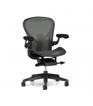 Herman Miller | Aeron - size B, fully equipped, graphite